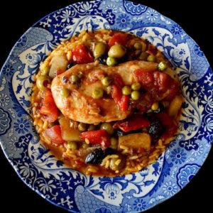 Cuban Chicken Stew with Alcaparrado