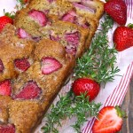 Strawberry-Rosemary Cake Recipe | cookingontheweekends.com