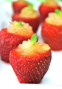Summer Hors d'Oeuvre Recipe: Minty Lime Granita Strawberry Cups