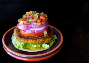 Grilled Split Pea Vegetarian Burger Recipe | cookingontheweekends.com