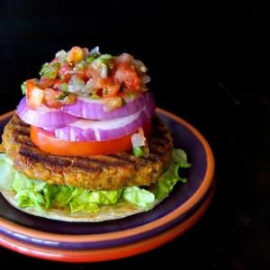 Grilled Split Pea Vegetarian Burger Recipe {Gluten-Free}
