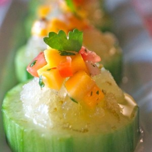 Lime Granita-Mango Salsa Bites Appetizer on POPSUGAR Food