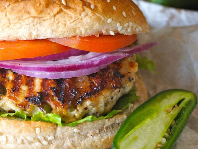 Grilled Jalapeo Pepper Jack Turkey Burgers Cooking On The Weekends