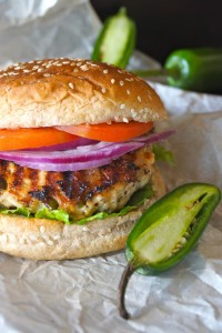 Grilled Jalapeño Pepper Jack Turkey Burgers