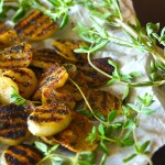 Herb-Grilled Elephant Garlic Recipe | cookingontheweekends.com