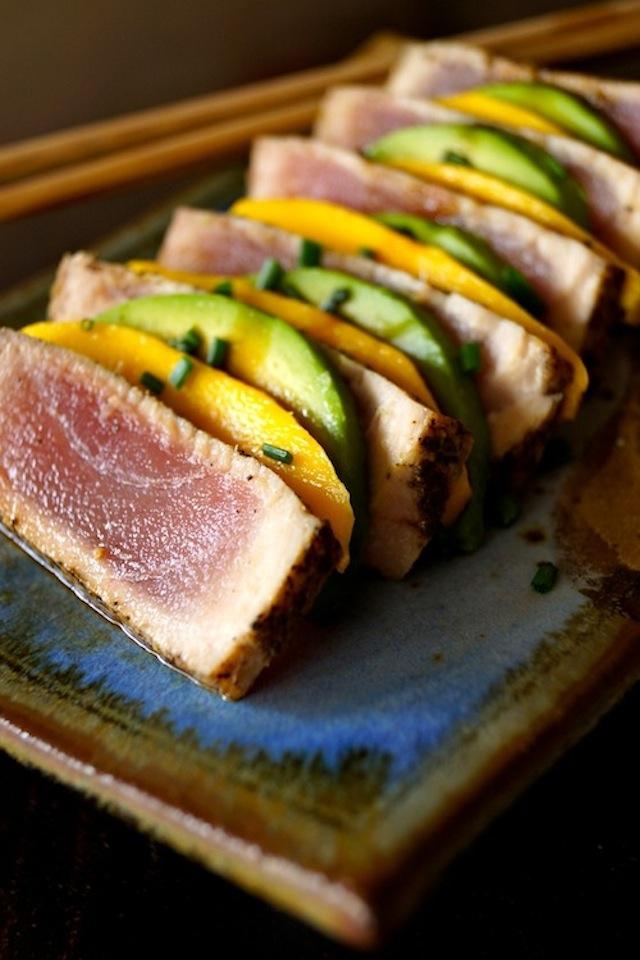 Seared Ahi Tuna Avocado-Mango Appetizer