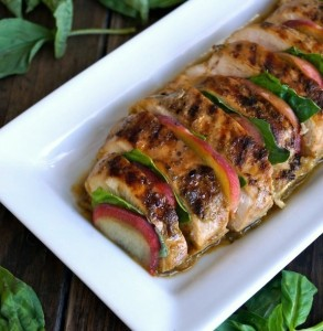 Summer Peach-Basil Grilled Chicken Recipe