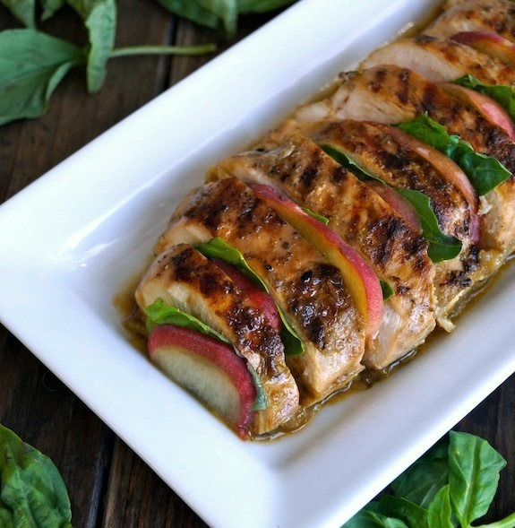 Summer Peach Basil Grilled Chicken