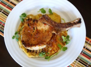 Sweet and Spicy Pineapple Grilled Pork Chop Recipe | cookingontheweekends.com
