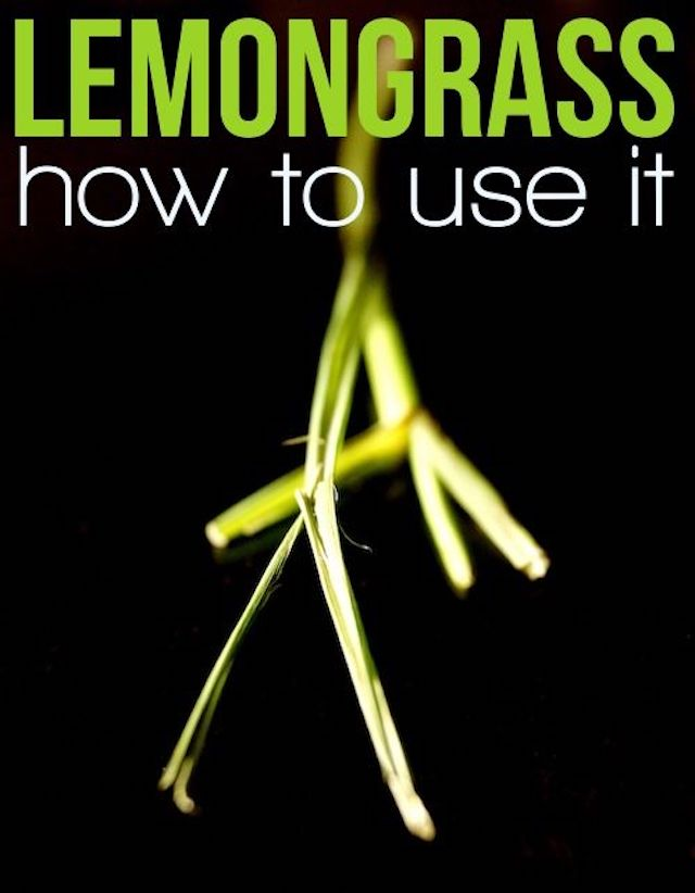 This guide both illustrates and explains how to use lemongrass super clearly. Lemongrass is a delicious ingredient in so many recipes, and might seem daunting to use, but this method will change that. #lemongrass #howto #asianproduce