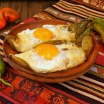 Hatch Chile Pepper Jack Bacon and Eggs | cookingontheweekends.com