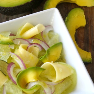 Shaved Melon-Avocado Salad Recipe