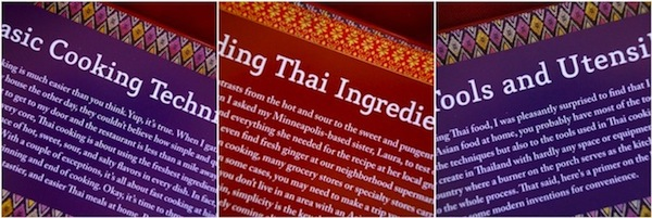 Inside pages from Everyday Thai Cooking Cookbook