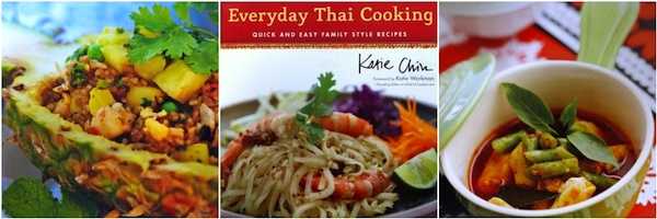 Everyday Thai Cooking Cookbook with images from inside