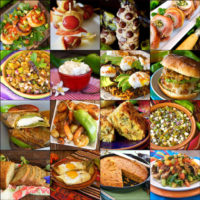 16 photo grid of hatch chile recipes