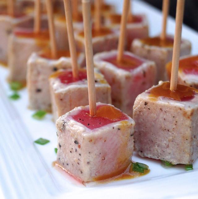 Wasabi Glazed Seared Ahi Tuna Recipe   cookingontheweekends.com
