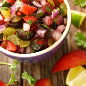 Grape-Plum Summer Salsa Recipe