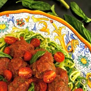 Summer Spaghetti and Pesto Meatballs {Gluten-Free Recipe}