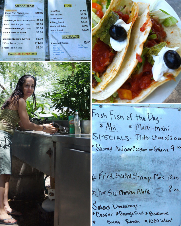 Da Fish House menus and tacos and Valentina