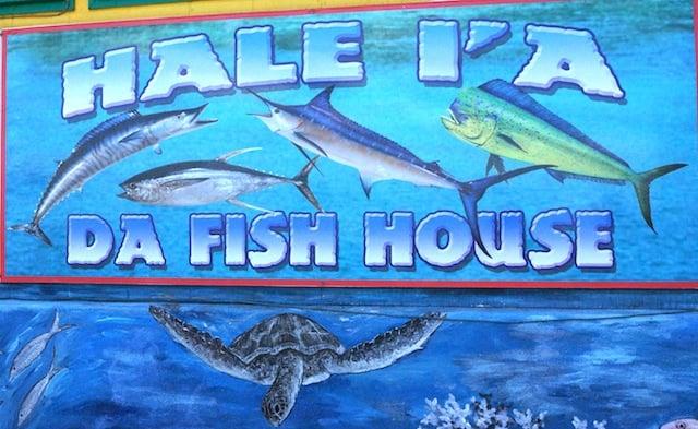 Da Fish House mural at the fish market