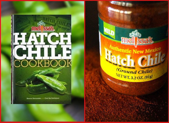 Image of Hatch Chile cookbook and Hatch Chile powder.
