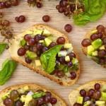 Champagne Grape-Avocado Bruschetta Recipe