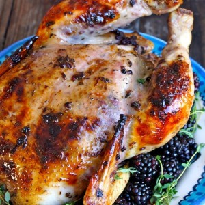 Blackberry-Thyme Roasted Chicken and a Surprise Gift