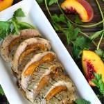 Cilantro Chimichurri Peach Roasted Pork Tenderloin