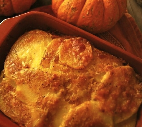 Pumpkin Potato Gratin