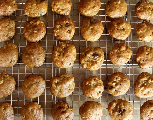 healthy pumpkin cookies on a cooling rack