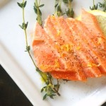 Olive Oil-Thyme Poached Salmon | cookingontheweekends.com