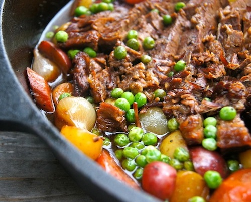 Braised Brisket Stew to go with Roasted Garlic Basil Brown Rice