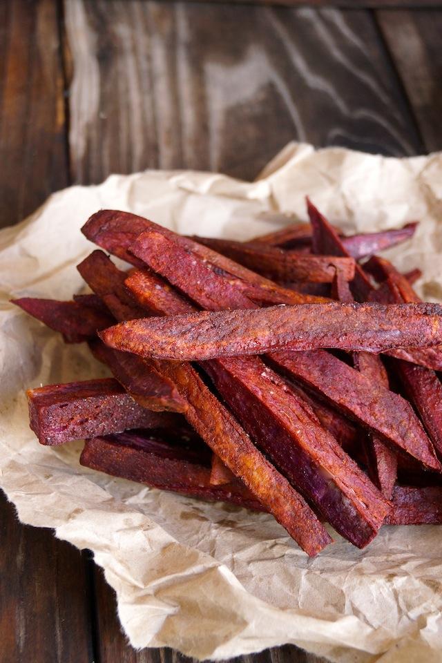 how to make purple sweet potato fries