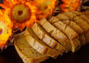 Sliced loaf of Butternut Squash Ginger Bread Recipe - cookingontheweekends.com