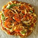 Caramelized Onion-Tomato Smashed Potato Pizza  cookingontheweekends.com