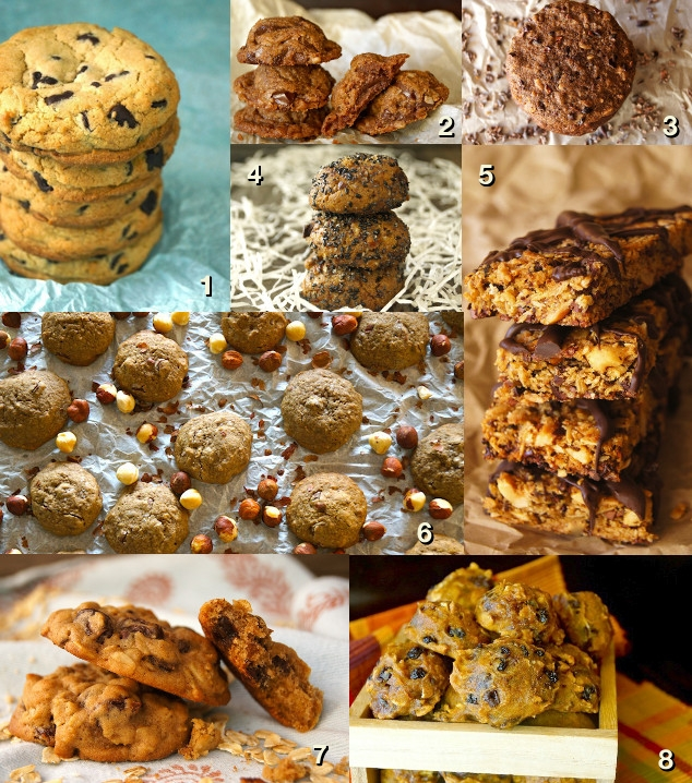 Photo grid of 8 Holiday Cookies