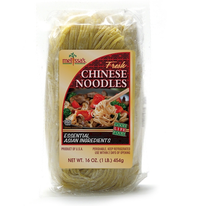 Package of Melissa's Produce fresh Chinese noodles