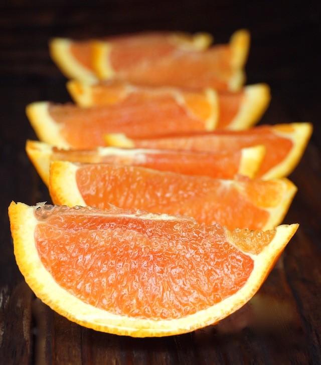 several slices of cara cara oranges
