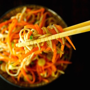 Carrot Ginger Soba Noodles