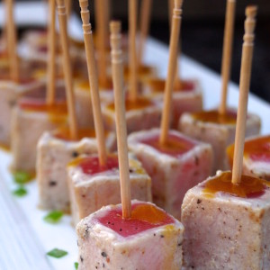 Wasabi Glazed-Seared Ahi Tuna Recipe