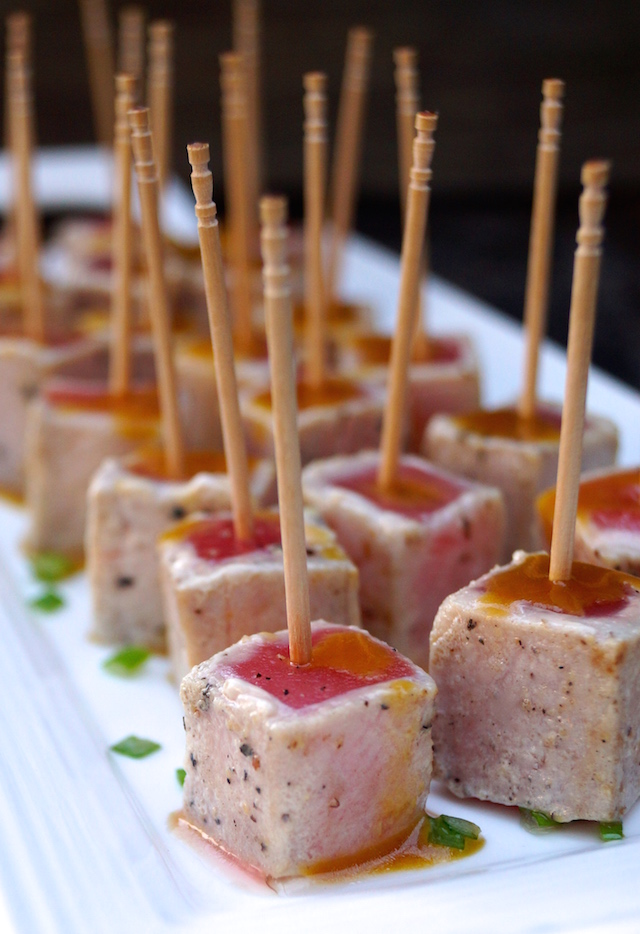 Peppered Tuna Skewers With Wasabi Mayonnaise Recipe — Dishmaps