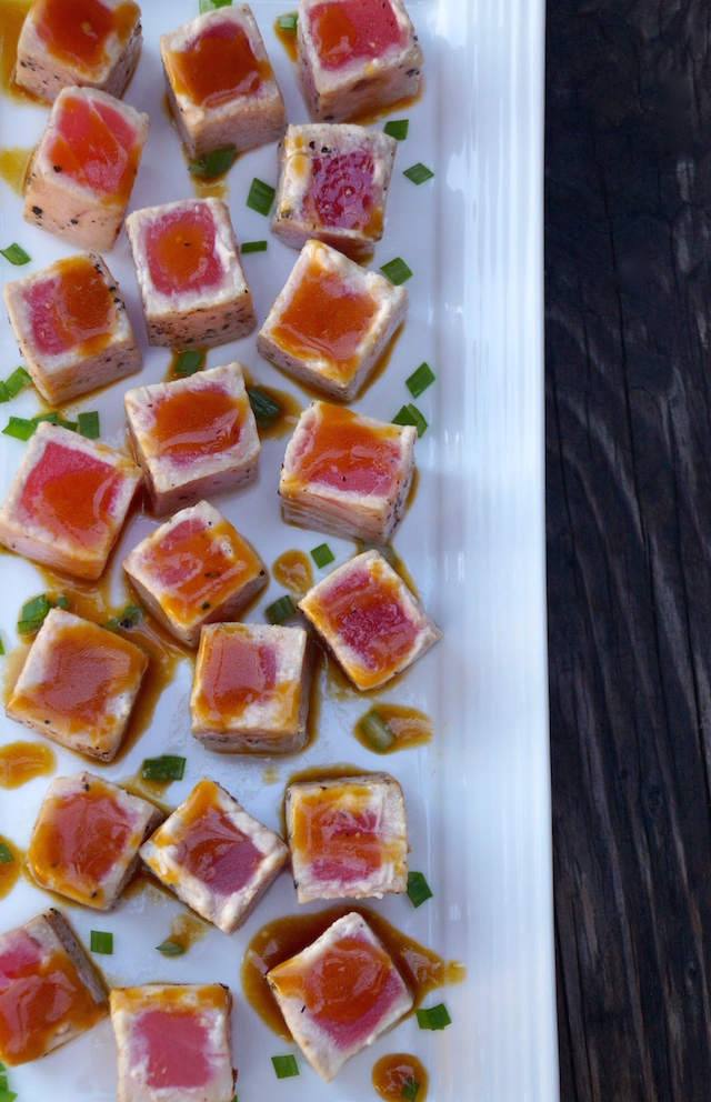 Wasabi Glazed Seared Ahi Tuna