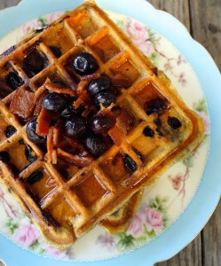 Brown Butter Blueberry-Bacon Waffles