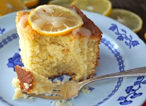 Vanilla-Lemon Hot Milk Cake Recipe - lemons-bite | COOKINGONTHEWEEKENDS.COM