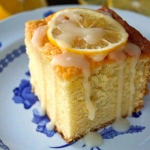 Vanilla-Lemon Hot Milk Cake Recipe | COOKINGONTHEWEEKENDS.COM