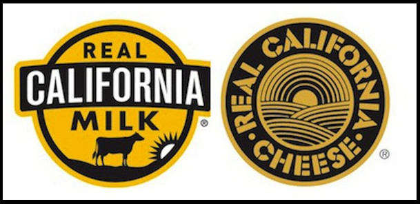 Real California Milk logo stickers.