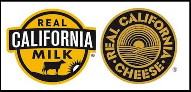 Real California Milk logo stickers.