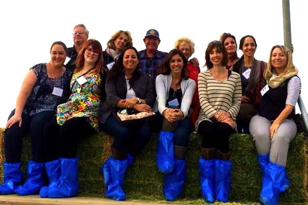 Food bloggers at Bootsma California Dairy Farm