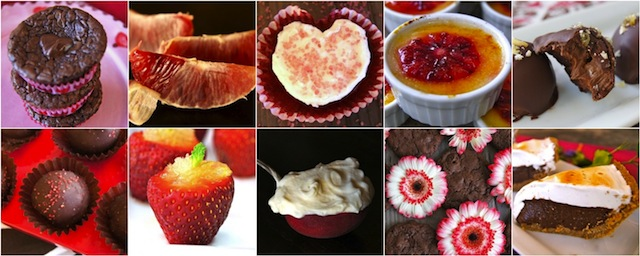 collage of my Top 10 unique Valentine's Day Desserts