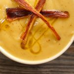 Creamy Caramelized Parsnip Soup Recipe with baby Parsnip French Fries